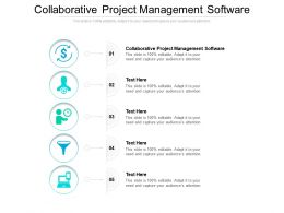 Collaborative Project Management Software Ppt Powerpoint Presentation Pictures Background Images Cpb
