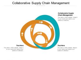 Collaborative Supply Chain Management Ppt Powerpoint Presentation Gallery Example Cpb