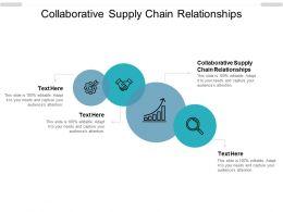 Collaborative Supply Chain Relationships Ppt Powerpoint Presentation Portfolio Cpb