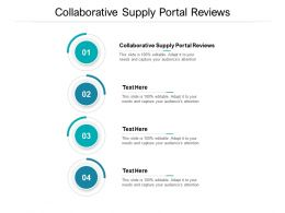 Collaborative Supply Portal Reviews Ppt Powerpoint Presentation Styles Professional Cpb