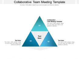Collaborative Team Meeting Template Ppt Powerpoint Presentation Icon Model Cpb