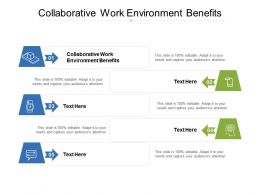 Collaborative Work Environment Benefits Ppt Powerpoint Presentation Inspiration Elements Cpb