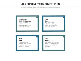 Collaborative Work Environment Ppt Powerpoint Presentation Layouts Show Cpb