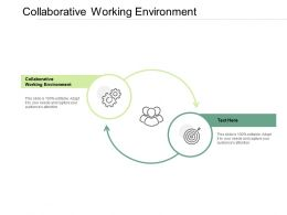 Collaborative Working Environment Ppt Powerpoint Presentation Visual Aids Show Cpb