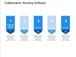 Collaborative Working Software Ppt Powerpoint Presentation Gallery Example File Cpb