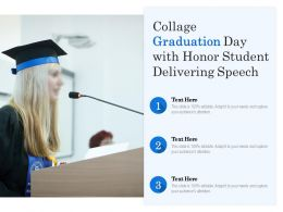 Collage Graduation Day With Honor Student Delivering Speech