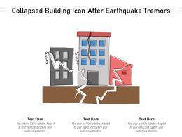 Collapsed Building Icon After Earthquake Tremors