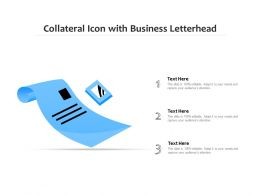 Collateral Icon With Business Letterhead