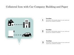 Collateral Icon With Car Company Building And Paper