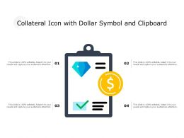 Collateral Icon With Dollar Symbol And Clipboard
