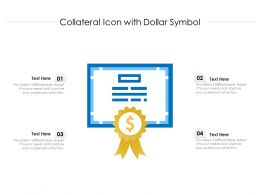 Collateral Icon With Dollar Symbol