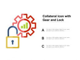 Collateral Icon With Gear And Lock
