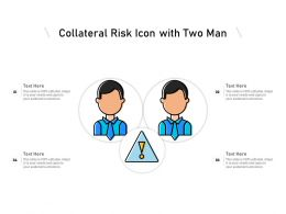 Collateral Risk Icon With Two Man
