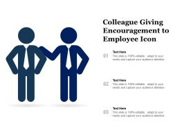 Colleague Giving Encouragement To Employee Icon