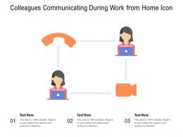 Colleagues Communicating During Work From Home Icon