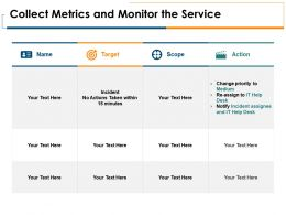Collect Metrics And Monitor The Service Target Ppt Powerpoint Presentation Pictures Vector