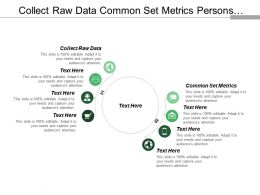 Collect Raw Data Common Set Metrics Persons Impacted