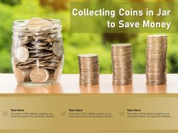 Collecting Coins In Jar To Save Money