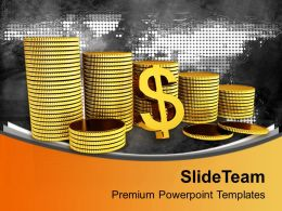 collection_of_gold_coins_us_dollars_powerpoint_templates_ppt_themes_and_graphics_0113_Slide01