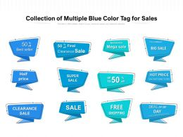 Collection Of Multiple Blue Color Tag For Sales