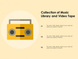Collection Of Music Library And Video Tape