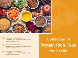 Collection Of Protein Rich Food For Health