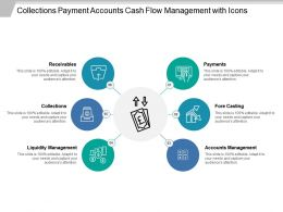 Collections Payment Accounts Cash Flow Management With Icons