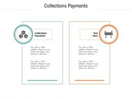 Collections Payments Ppt Powerpoint Presentation Infographics Example Cpb
