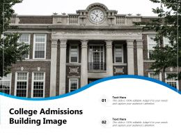 College Admissions Building Image