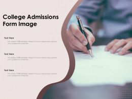 College Admissions Form Image