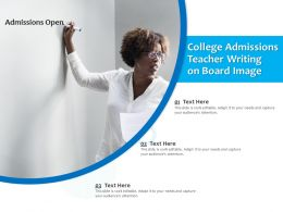 College Admissions Teacher Writing On Board Image