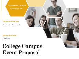 College Campus Event Proposal Powerpoint Presentation Slides