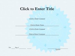 College Fullfilment diploma Certificate Template of completion PowerPoint for Kids