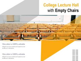 College Lecture Hall With Empty Chairs