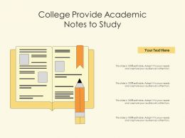 College Provide Academic Notes To Study