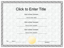 College Recognition diploma Certificate Template of Fullfilment completion PowerPoint for adults kids