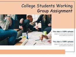 College Students Working Group Assignment