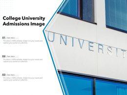 College University Admissions Image