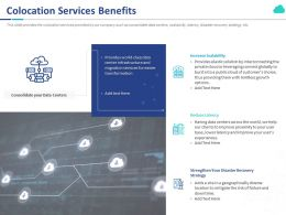 Colocation Services Benefits Ppt Powerpoint Presentation Model Structure