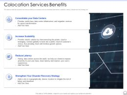 Colocation Services Benefits Ppt Powerpoint Presentation Professional Icon