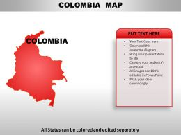 Colombia Country Powerpoint Maps