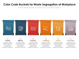 Color Code Buckets For Waste Segregation At Work Place