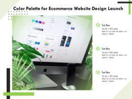 Color Palette For Ecommerce Website Design Launch