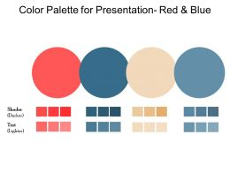 Color Palette For Presentation Red And Blue