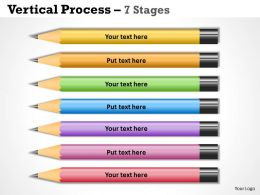 Color Pencils Vertical Process 7 Stages