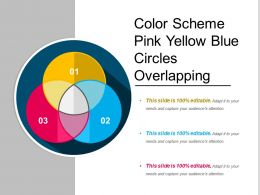 Color Scheme Pink Yellow Blue Circles Overlapping
