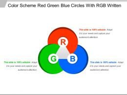 Color Scheme Red Green Blue Circles With Rgb Written