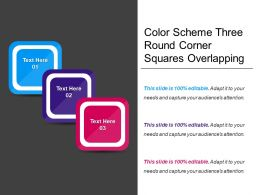 Color Scheme Three Round Corner Squares Overlapping