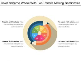 Color Scheme Wheel With Two Pencils Making Semicircles