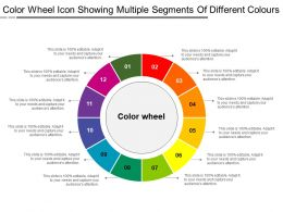 Color Wheel Icon Showing Multiple Segments Of Different Colours